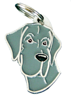 НЕМЕ́ЦКИЙ ДОГ - СИНИЙ - pet ID tag, dog ID tags, pet tags, personalized pet tags MjavHov - engraved pet tags online