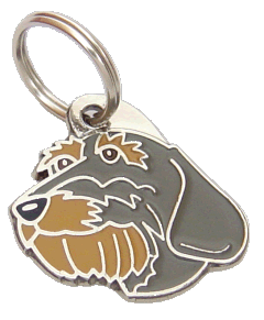 ТАКСА ДЛИННОШЁРСТНЫЕ - pet ID tag, dog ID tags, pet tags, personalized pet tags MjavHov - engraved pet tags online