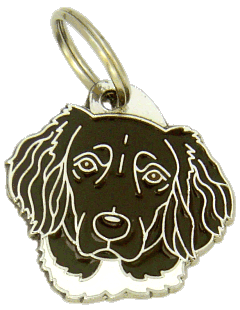 МЮНСТЕРЛЕНДЕР - КОРИЧНЕВЫЙ - pet ID tag, dog ID tags, pet tags, personalized pet tags MjavHov - engraved pet tags online