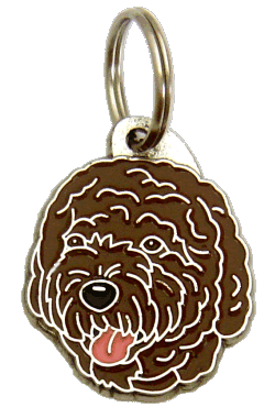 ПОРТУГАЛЬСКАЯ ВОДЯНАЯ СОБАКА - КОРИЧНЕВЫЙ - pet ID tag, dog ID tags, pet tags, personalized pet tags MjavHov - engraved pet tags online