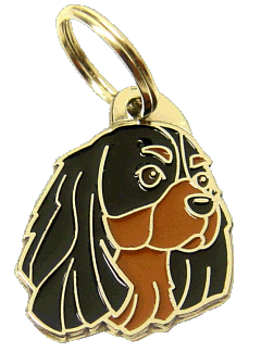 КАВАЛЕР КИНГ ЧАРЛЬЗ СПАНИЕЛЬ - ЧЁРНО-ПОДПАЛЫЙ - pet ID tag, dog ID tags, pet tags, personalized pet tags MjavHov - engraved pet tags online