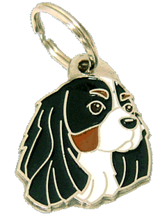 КАВАЛЕР КИНГ ЧАРЛЬЗ СПАНИЕЛЬ - ТРИКОЛОР - pet ID tag, dog ID tags, pet tags, personalized pet tags MjavHov - engraved pet tags online