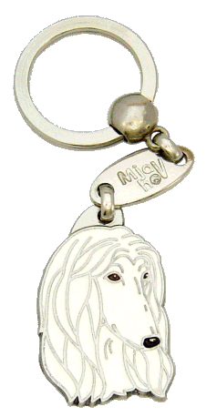 АФГАНСКАЯ БОРЗАЯ БЕЛЫЙ - pet ID tag, dog ID tags, pet tags, personalized pet tags MjavHov - engraved pet tags online