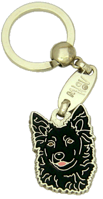 МУДИ - ЧЁРНЫЙ - pet ID tag, dog ID tags, pet tags, personalized pet tags MjavHov - engraved pet tags online