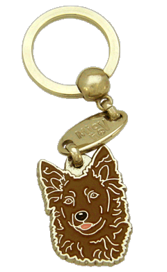 МУДИ - КОРИЧНЕВЫЙ - pet ID tag, dog ID tags, pet tags, personalized pet tags MjavHov - engraved pet tags online