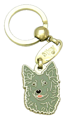 МУДИ - СЕРЫЙ - pet ID tag, dog ID tags, pet tags, personalized pet tags MjavHov - engraved pet tags online