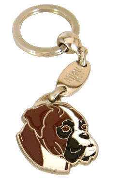 НЕМЕ́ЦКИЙ БОКСЁР - ТИГРОВЫЙ - pet ID tag, dog ID tags, pet tags, personalized pet tags MjavHov - engraved pet tags online