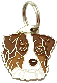 AUSTRALIAN SHEPHERD RØD - pet ID tag, dog ID tags, pet tags, personalized pet tags MjavHov - engraved pet tags online