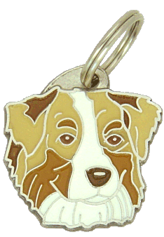 AUSTRALIAN SHEPHERD RED MERLE, BRUN ØYNE - pet ID tag, dog ID tags, pet tags, personalized pet tags MjavHov - engraved pet tags online