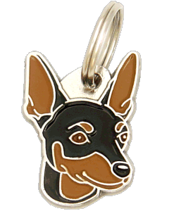 DVERGPINSCHER BLACK/TAN - pet ID tag, dog ID tags, pet tags, personalized pet tags MjavHov - engraved pet tags online