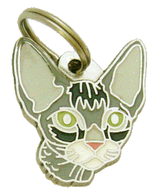 DEVON REX GRÅ - pet ID tag, dog ID tags, pet tags, personalized pet tags MjavHov - engraved pet tags online