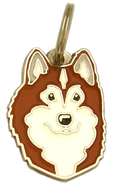 ALASKAN MALAMUTE BRUN - pet ID tag, dog ID tags, pet tags, personalized pet tags MjavHov - engraved pet tags online