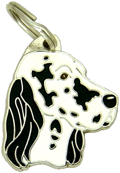 ENGELSK SETTER SVARTHVIT - pet ID tag, dog ID tags, pet tags, personalized pet tags MjavHov - engraved pet tags online