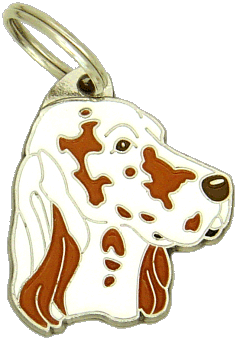ENGELSK SETTER ORANGE BELTON - pet ID tag, dog ID tags, pet tags, personalized pet tags MjavHov - engraved pet tags online