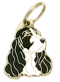 COCKER SVARTHVIT - pet ID tag, dog ID tags, pet tags, personalized pet tags MjavHov - engraved pet tags online