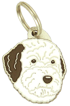 LAGOTTO ROMAGNOLO BRUN/HVIT - pet ID tag, dog ID tags, pet tags, personalized pet tags MjavHov - engraved pet tags online