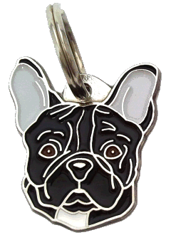 FRANSK BULLDOG SVART - pet ID tag, dog ID tags, pet tags, personalized pet tags MjavHov - engraved pet tags online