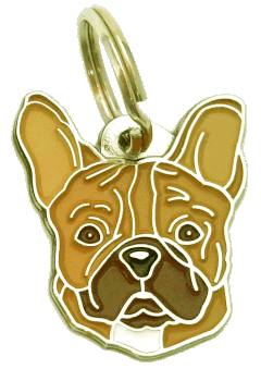 FRANSK BULLDOG BRUN - pet ID tag, dog ID tags, pet tags, personalized pet tags MjavHov - engraved pet tags online