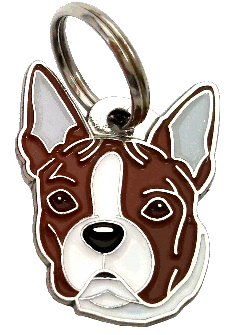 BOSTON TERRIER TIGRING - pet ID tag, dog ID tags, pet tags, personalized pet tags MjavHov - engraved pet tags online