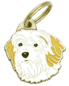 TIBETANSK TERRIER HVIT/KREM - pet ID tag, dog ID tags, pet tags, personalized pet tags MjavHov - engraved pet tags online