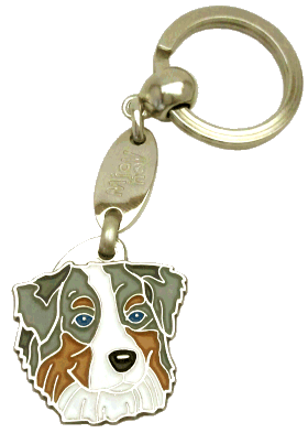 AUSTRALIAN SHEPHERD BLUE MERLE - pet ID tag, dog ID tags, pet tags, personalized pet tags MjavHov - engraved pet tags online