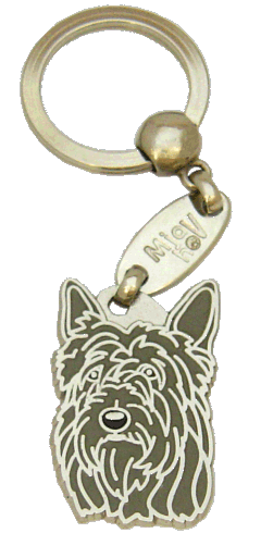 BERGER PICARD GRÅ - pet ID tag, dog ID tags, pet tags, personalized pet tags MjavHov - engraved pet tags online