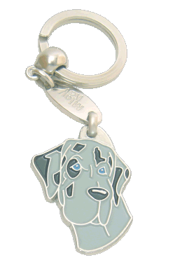GRAND DANOIS BLUE MERLE - pet ID tag, dog ID tags, pet tags, personalized pet tags MjavHov - engraved pet tags online