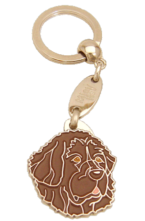 NEWFOUNDLANDSHUND BRUN - pet ID tag, dog ID tags, pet tags, personalized pet tags MjavHov - engraved pet tags online