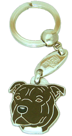 STAFFORDSHIRE BULLTERRIER TIGRING - pet ID tag, dog ID tags, pet tags, personalized pet tags MjavHov - engraved pet tags online