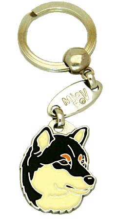 SHIBA TRICOLOR - pet ID tag, dog ID tags, pet tags, personalized pet tags MjavHov - engraved pet tags online