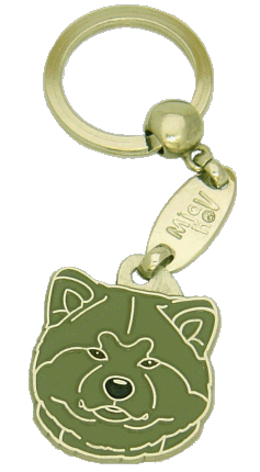 AKITA INU GRÅ - pet ID tag, dog ID tags, pet tags, personalized pet tags MjavHov - engraved pet tags online