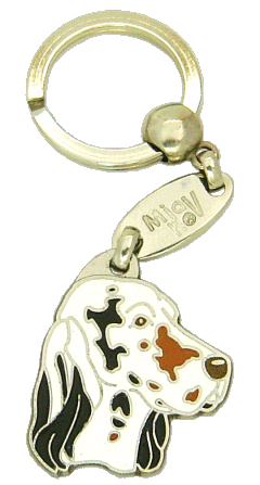 ENGELSK SETTER TRICOLOR - pet ID tag, dog ID tags, pet tags, personalized pet tags MjavHov - engraved pet tags online
