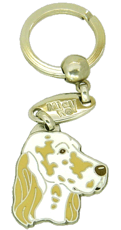 ENGELSK SETTER GUL/HVIT - pet ID tag, dog ID tags, pet tags, personalized pet tags MjavHov - engraved pet tags online