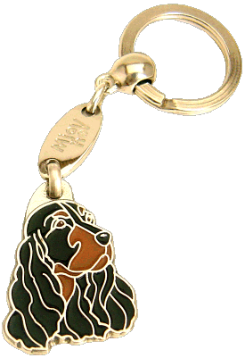 COCKER BLACK/TAN - pet ID tag, dog ID tags, pet tags, personalized pet tags MjavHov - engraved pet tags online