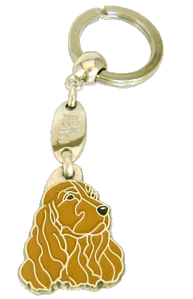 COCKER BRUN - pet ID tag, dog ID tags, pet tags, personalized pet tags MjavHov - engraved pet tags online