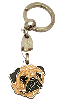 MOPS FAWN - pet ID tag, dog ID tags, pet tags, personalized pet tags MjavHov - engraved pet tags online