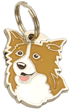 Border collie liliowo-biały - pet ID tag, dog ID tags, pet tags, personalized pet tags MjavHov - engraved pet tags online