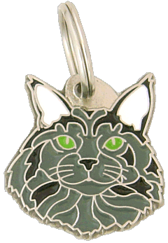 Maine Coon niebieski - pet ID tag, dog ID tags, pet tags, personalized pet tags MjavHov - engraved pet tags online