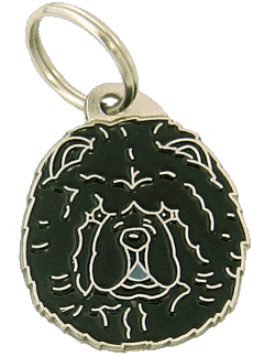 Chow chow czarny - pet ID tag, dog ID tags, pet tags, personalized pet tags MjavHov - engraved pet tags online