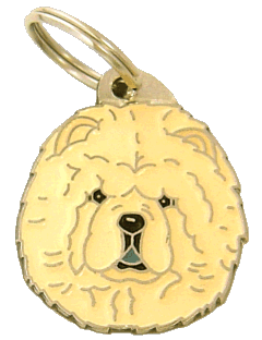 Chow chow kremowy - pet ID tag, dog ID tags, pet tags, personalized pet tags MjavHov - engraved pet tags online