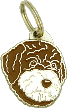 Lagotto romagnolo brązowy, biały pysk - pet ID tag, dog ID tags, pet tags, personalized pet tags MjavHov - engraved pet tags online