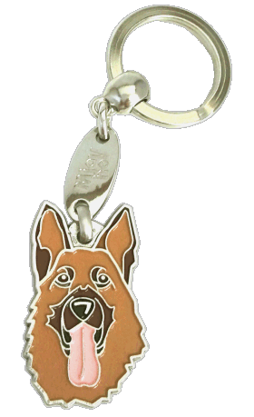Owczarek niemiecki - pet ID tag, dog ID tags, pet tags, personalized pet tags MjavHov - engraved pet tags online