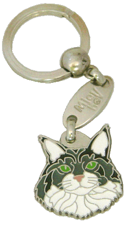 Maine Coon - pet ID tag, dog ID tags, pet tags, personalized pet tags MjavHov - engraved pet tags online