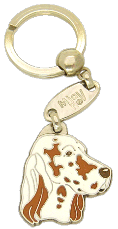Seter angielski orange belton - pet ID tag, dog ID tags, pet tags, personalized pet tags MjavHov - engraved pet tags online