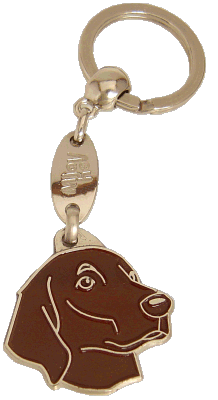 Flat coated retriever brązowy - pet ID tag, dog ID tags, pet tags, personalized pet tags MjavHov - engraved pet tags online