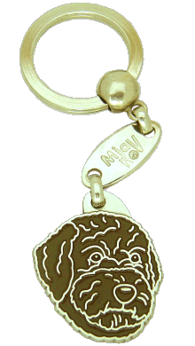 Lagotto romagnolo brązowy - pet ID tag, dog ID tags, pet tags, personalized pet tags MjavHov - engraved pet tags online