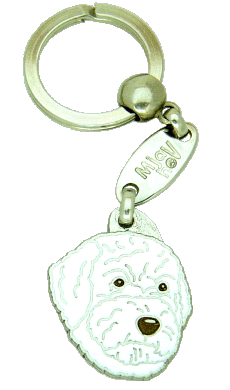 Lagotto romagnolo biały - pet ID tag, dog ID tags, pet tags, personalized pet tags MjavHov - engraved pet tags online
