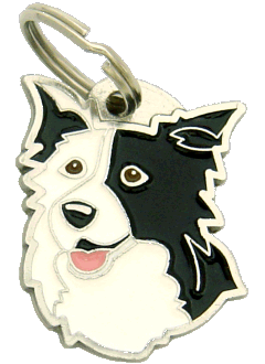BORDER COLLIE SORT ØRE - pet ID tag, dog ID tags, pet tags, personalized pet tags MjavHov - engraved pet tags online