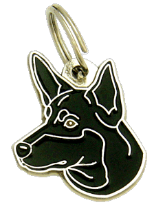AUSTRALSK KELPIE SORT - pet ID tag, dog ID tags, pet tags, personalized pet tags MjavHov - engraved pet tags online