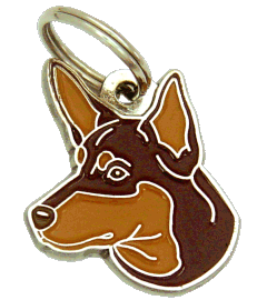 AUSTRALSK KELPIE RØD/TAN - pet ID tag, dog ID tags, pet tags, personalized pet tags MjavHov - engraved pet tags online